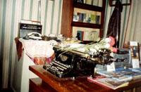 Фрагмент экспозиции. Мемориальные вещи П. Хузангая