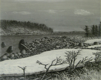 Графика, живопись Олега Юнтунена в Выставочном зале Петрозаводска