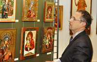 Выставка Икона XXI века представляющая творчество рыбинской мастерской Лик