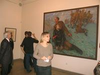 Покровская С.В. На выставке Гений места К.С. Петров-Водкин. 2008 г. Саратовский Радищевский музей
