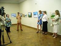 Открытие выставки Давида Левашенко