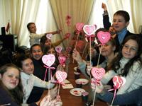 Мастер-класс по росписи валентинок