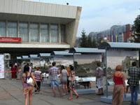 Уличная выставка «Омск в моем сердце» на Театральной площади