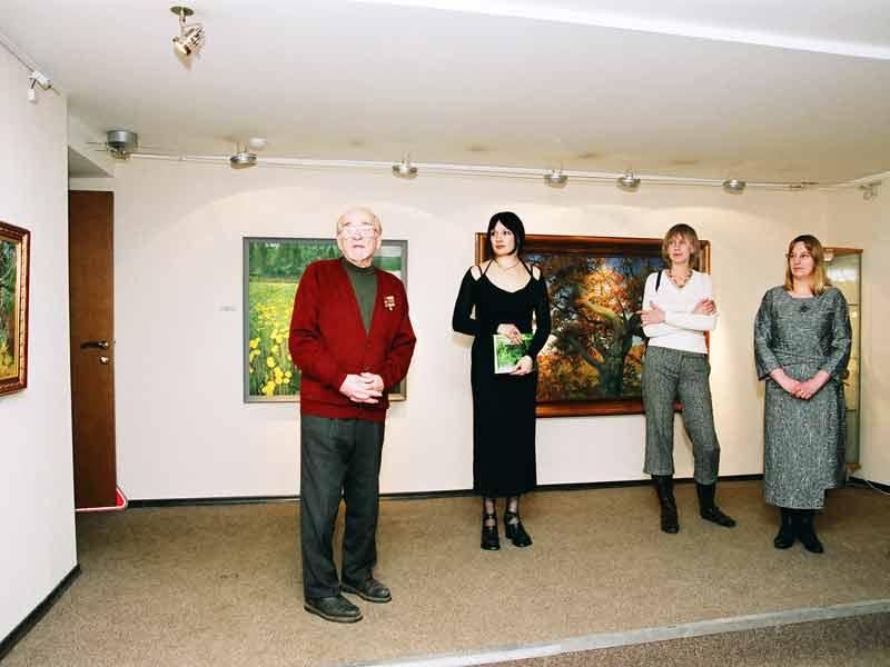 Значимые места: На открытии выставки Владимира Саксона (Март 2007)