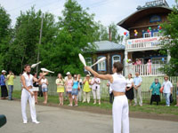 День села возле дома-музея В.В. Каменского. 2009 г.