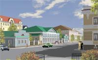 Макет реставрации усадьбы Боратынских в Казани