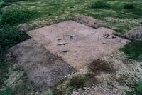 Раскоп на стоянке Муксалма 2, 2004, неолит (Соловецкий архипелаг)