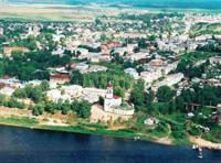 Тотьма. Панорама города