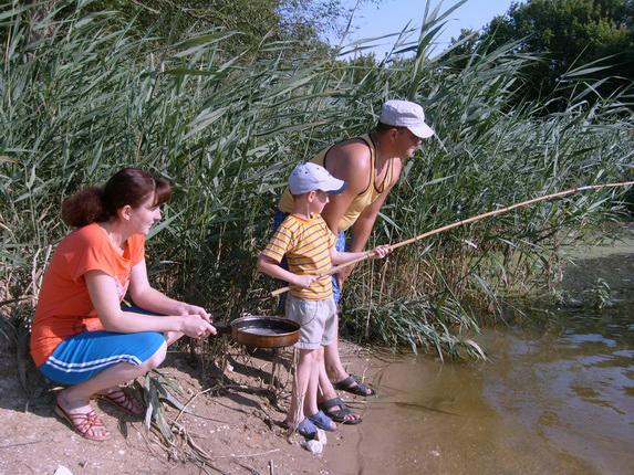 Значимые места: Марина Коротаева. На рыбалке. Белгородская область