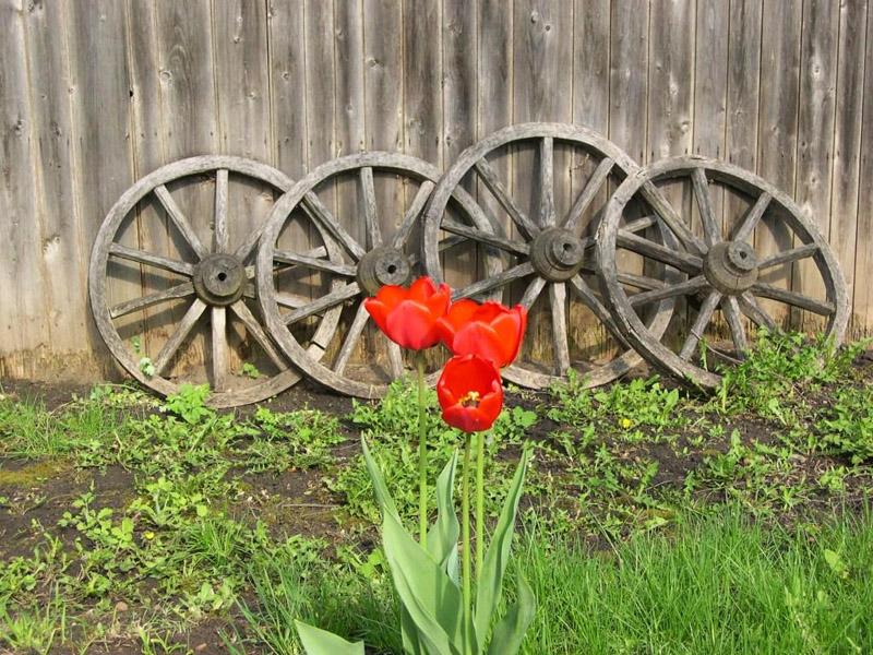 Значимые места: Двор Дома-музея весной