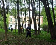 Bолонтеры на расчистке усадебного парка