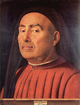 Мужской портрет (Портрет Тривульцио), 1476, Антонелло да Мессина