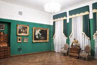Вид экспозиции основного корпуса. Зал голандского и фламандского искусства