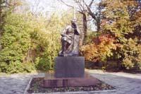 Значимые места: Белинский - гимназист, скульптура в парке музея В.Г.Белинского.