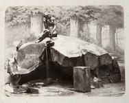 Мей А.И. Альбом «Виды Царского Села». Фонтан «Девушка с кувшином» в Екатерининском парке. 1870-е