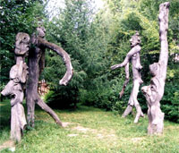 Шурале . Скульптурная группа в Музее Г. Тукая в Н. Кырлае