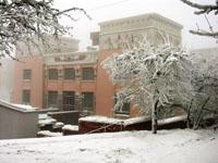 Красноярский краевой краеведческий музей зимой