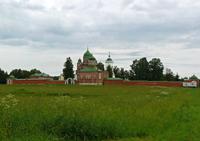 Значимые места: Спасо-Бородинский монастырь. Oбщий вид. 1820-1880-е гг.