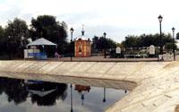 Районный центр Алексеевское в Татарстане. Набережная