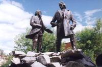 Памятник основателям города - Петру I и Никите Демидову