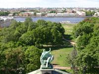 Значимые места: Вид с колоннады Исаакиевского Собора
