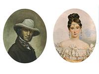 А.С. Пушкин. 13 июня 1831 г. Неизвестный художник. Н.Н. Пушкина. А.П. Брюллов. 1831-1832 гг.