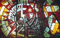 Витраж Красная Армия художник А.Иванов и П.Егоров