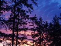 Закат на оз. Арахлей. VI Азиатский фестиваль русской песни