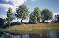 13-я Галичская крепость, земляные валы и пруд на месте рва, 15в