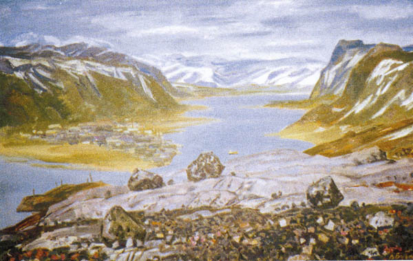 Значимые места: Бубенцов В.Н. У моря Баренца, 1987 г.