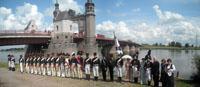 Историческая реконструкция, посвящённая подписанию Тильзитского мира 1807 года на реке Неман. 11 июля 2009 г. Фотография И. Середы