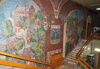 Мозаичное панно в фойе музея