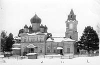 Свято-Никольская церковь в д. Монастырь, построена в 1910. Памятник деревянного зодчества