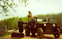 Полуторка ГАЗ-АА 1933 г. Дмитрий Ломако на съемках фильма Утро Патриарха