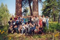 Экскурсия школьников в реликтовую сосновую рощу