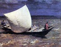 Выставка художественных произведений Я. Вебера (Яков Вебер - певец Волги!) Картина Лодка с парусом
