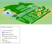 План-схема Пискаревского мемориального кладбища