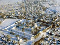 Здания и сооружения: Александровский кремль, вид сверху