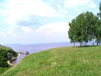 Вид на Волгу близ села Красновидово