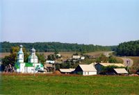 Вид села Прислониха