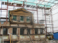 Фасад дома  после сноса