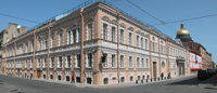 Вид на Центральный музей связи имени А.С. Попова (бывший дворец канцлера А.А. Безбородко)
