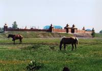 Внешняя панорама  крепостной стены и музея