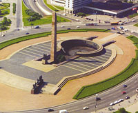 Здания и сооружения: Обелиск и скульптурная группа Победители. Монумент героическим защитникам Ленинграда