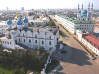 Вид на Благовещенский собор и мечеть Кул Шариф