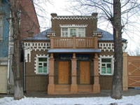 Фасад Выставочного зала заповедника Родина В.И. Ленина