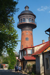 Водонапорная башня, где расположен Музей кошек Мурариум