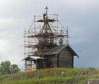 Реставрация часовни на о. Кижи