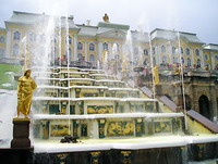 Здания и сооружения: Б. К. Растрелли. Большой дворец Петергофа