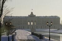Северный фасад зимой
